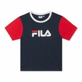 Salome Cotton Logo T-Shirt with Crew-Neck