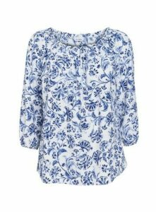 Ivory Floral Bardot Top, Ivory