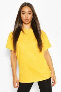 Womens Basic Oversized Boyfriend T-Shirt - Yellow - M, Yellow