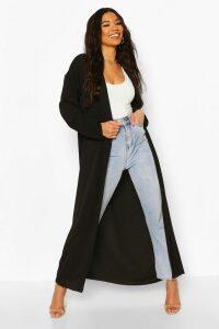 Womens Basic Woven Maxi Kimono - Black - 16, Black
