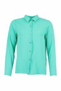 Womens Woven Shirt - Blue - 12, Blue