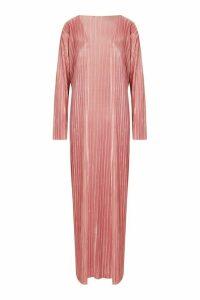Womens Plisse Maxi Kimono - Pink - M, Pink