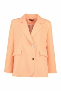 Womens Neon Oversized Blazer - Orange - 14, Orange
