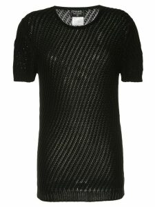 Chanel Pre-Owned 1998 short sleeve top - Black