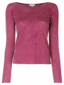 Emporio Armani Pre-Owned long sleeve V-neck knitted top - PINK