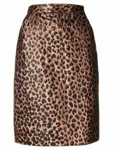 Yves Saint Laurent Pre-Owned 1980's animalier skirt - GOLD