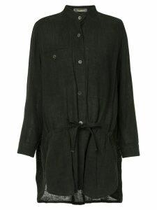 Issey Miyake Pre-Owned long mandarin collar shirt - Black