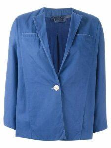Gianfranco Ferré Pre-Owned single button jacket - Blue