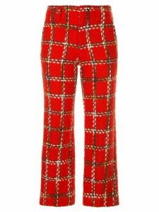 Junya Watanabe Comme des Garçons Pre-Owned plaid cropped knitted