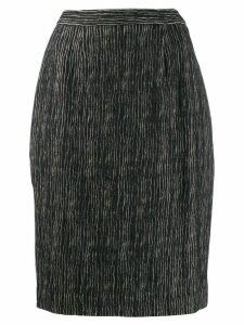Balmain Pre-Owned 1980's striped skirt - Black