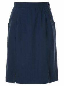 Yves Saint Laurent Pre-Owned straight short skirt - Blue