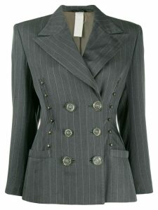 Versace Pre-Owned 1980's pinstriped double-breasted jacket - Grey