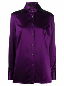 Gianfranco Ferré Pre-Owned 1990s button up shirt - PURPLE