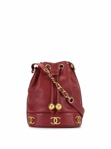 Chanel Pre-Owned 1992 CC logo bucket bag - Red