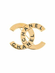 Chanel Pre-Owned 1998 CC logo brooch - GOLD