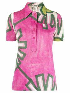 A.N.G.E.L.O. Vintage Cult 1960s floral print polo shirt - PINK