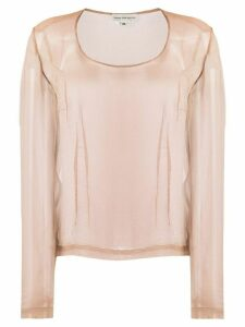 Dries Van Noten Pre-Owned 1990s sheer blouse - NEUTRALS