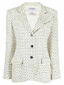 Chanel Pre-Owned 1998 bouclé stitch jacket - White