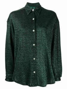 Jean Paul Gaultier Pre-Owned 1991s metallic knit shirt - Green