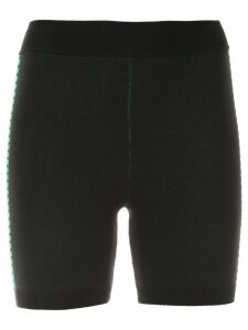 Nagnata Bodhi side stripe biker shorts - Black