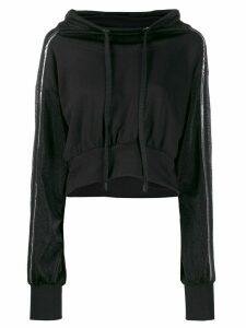 No Ka' Oi cropped hoodie - Black