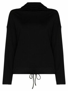 Ernest Leoty spun hooded top - Black