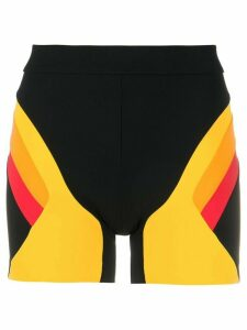 No Ka' Oi colour blocked sports shorts - Black
