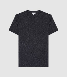 Reiss Dover - Melange Crew Neck T-shirt in Navy, Mens, Size XXL