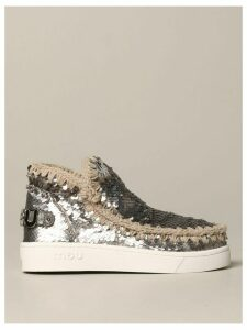 Mou Flat Booties Mou Sequined Eskimo Sneakers