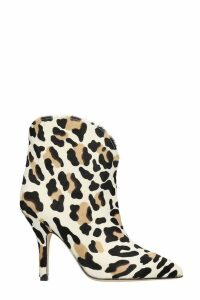 Paris Texas High Heels Ankle Boots In Animalier Pony Skin
