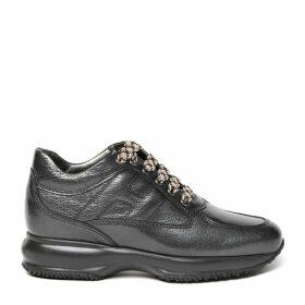 Hogan Grey Interactive Leather Sneaker
