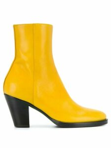 A.F.Vandevorst round toe ankle boots - Yellow