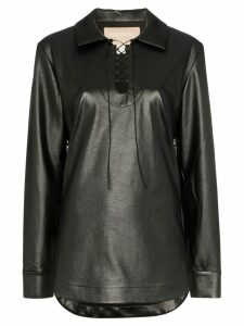 MATÉRIEL Lace Up Leather Shirt