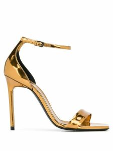 Saint Laurent Amber leather sandals - GOLD