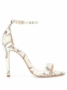 Schutz snakeskin effect sandals - White