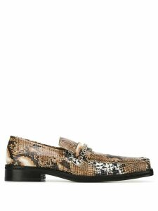 Martine Rose embossed chain detail loafers - NEUTRALS