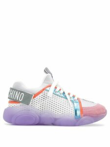 Moschino colour block sneakers - White
