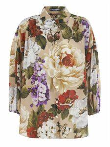 Dolce & Gabbana Floral Print Oversized Shirt