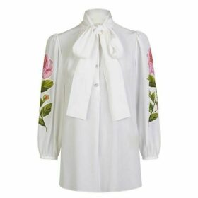 Dolce and Gabbana Bow Floral Blouse