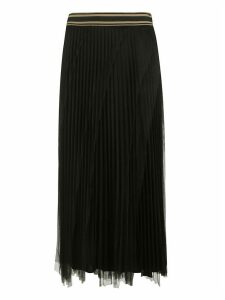 Brunello Cucinelli Double-layered Pleated Long Skirt