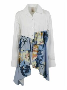 Antonio Marras Ruffled Detail Floral Print Shirt