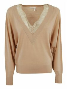Chloé Laced V-neck Jumper