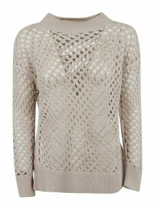 Fabiana Filippi Ribbed Knit See-through Pullover