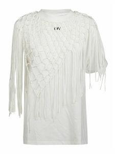 Off-White T-shirt Asymmetrical Fishnet