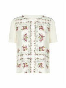 Tory Burch Bimeterial Ss Short Sleeve T-shirt