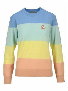 Maison Kitsune Raimbow Stripes Pullover