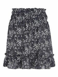 Kenzo Ruffled Printed Skirt