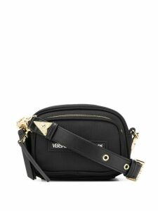 Versace Jeans Couture logo patch cross body bag - Black
