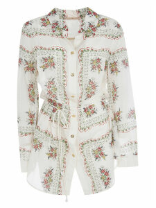 Tory Burch Brigitte Printed Beach Blouse