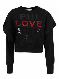 Philosophy di Lorenzo Serafini Layered-sleeve Ribbed Sweatshirt